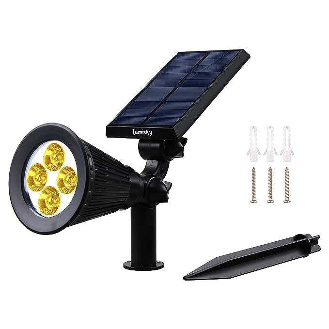 Lumisky Warm Proyector Foco luminoso Solar luz blanco, plástico ...