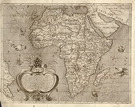 Amazon.com: 1600 Map of Africa. Africa: Posters & Prints