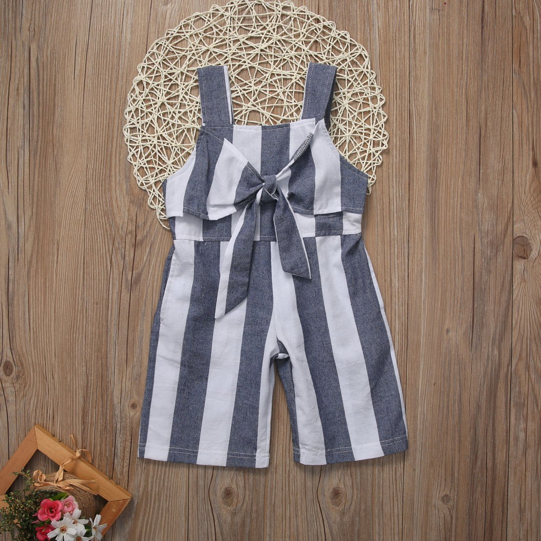 XARAZA Toddler Baby Girl Ruffle Loose Jumpsuit Romper Overalls Long Pants Clothes Outfits