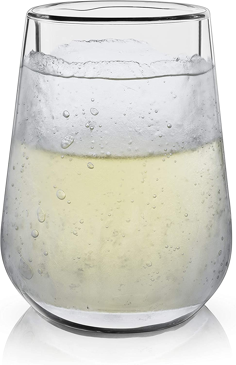 Viski 7337 Raye Double Walled Chilling Wine Glass