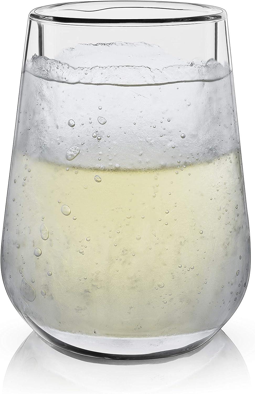Viski 7337 Raye Double Walled Chilling Wine Glass
