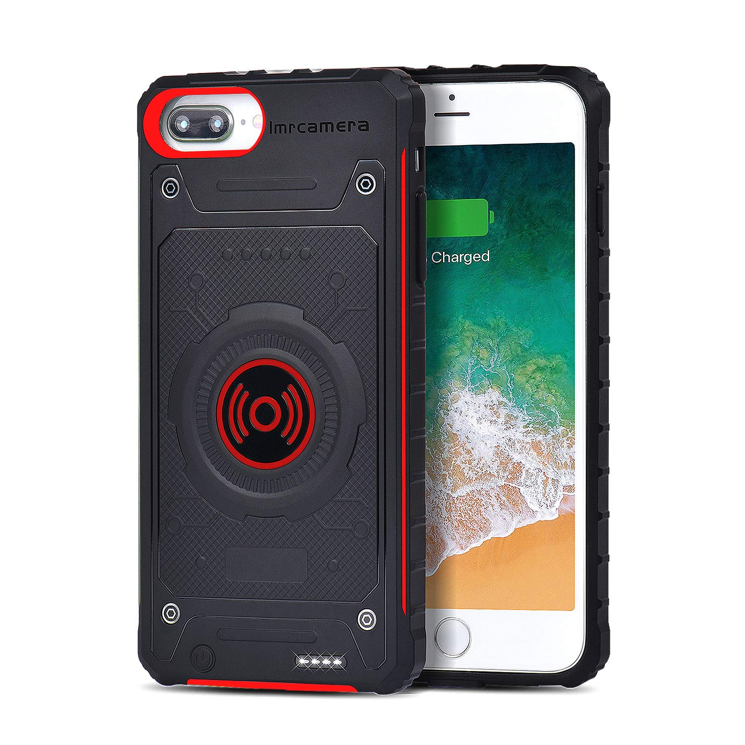 Battery Case Compatible 7 Plus/iPhone 8 Plus/6s Plus/6 Plus Charger case - 4000mAh Support Wireless Extended Qi Charging Power Case and Wired Charging Portable External Battery Power Bank(5.5-inch) IMRcamera