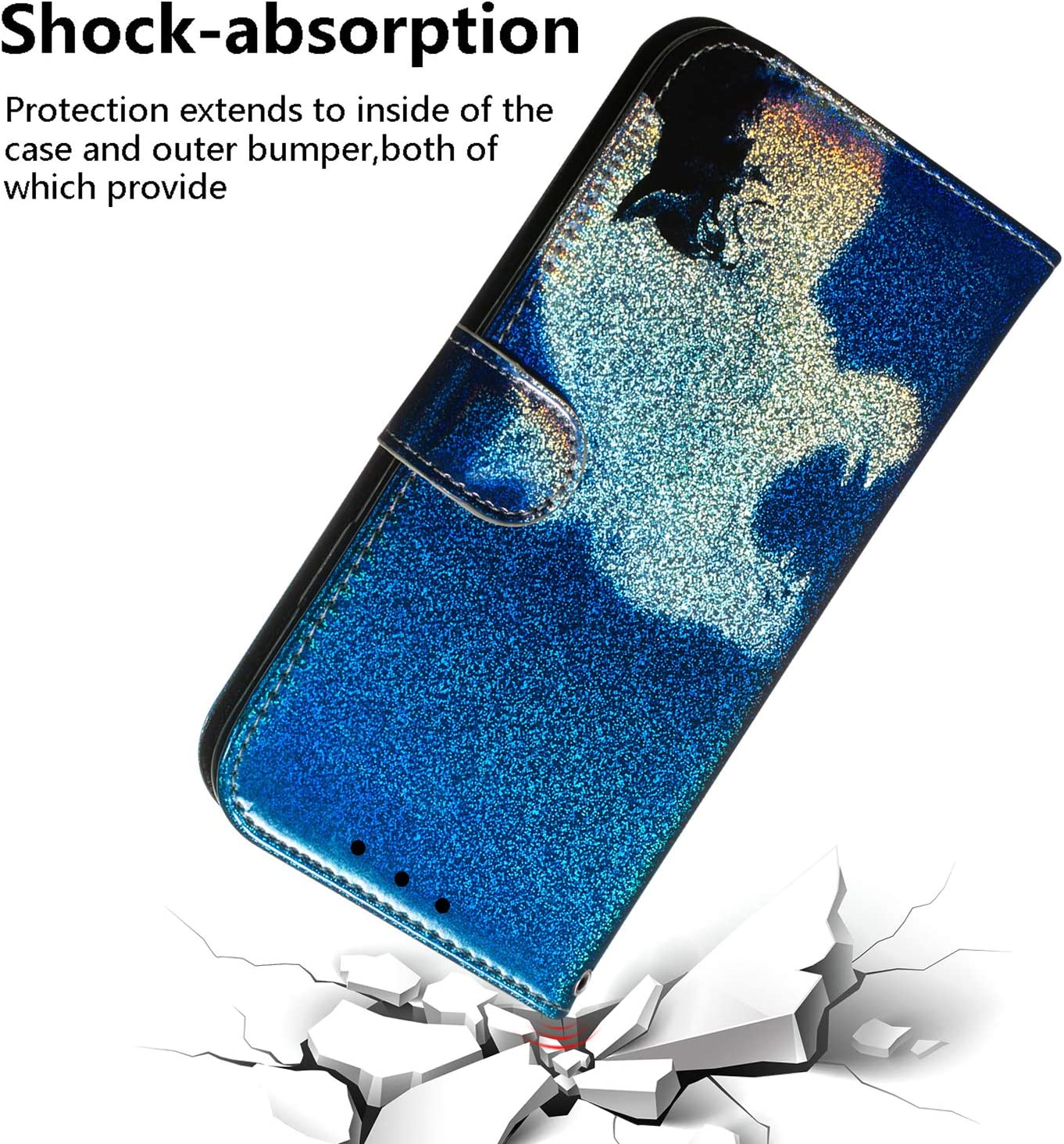 with Card Holder Side Pocket Kickstand S10 Plus NEXCURIO Wallet Case for Samsung Galaxy S10+ - NETXI150384 N4 S10Plus Shockproof Leather Flip Cover Case for Galaxy S10+