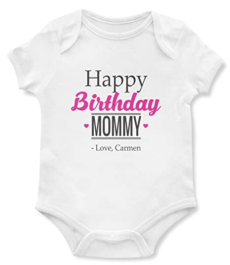 Birthday Baby Bodysuits Happy Mommy One Piece Gifts For Mom Newborn