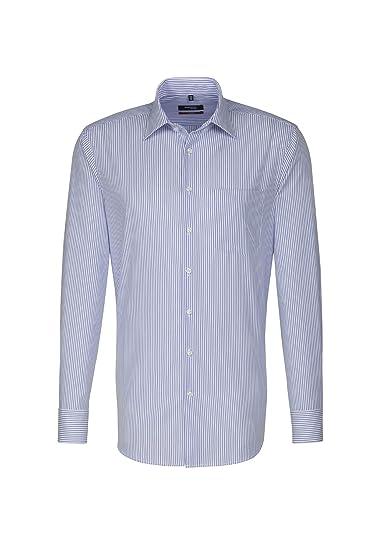 Kent-Kragen /& Brusttasche 100/% Baumwolle B/ügelleichtes Hemd mit geradem Schnitt Langarm Seidensticker Herren Business Hemd Modern Fit