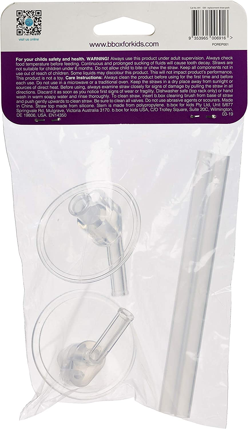 b.box Insulated Drink Bottle Replacement Straw Pack