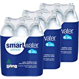 Glaceau Smartwater Vapor Distilled Water 33.8 Ounce, 3Units (Pack of 6)