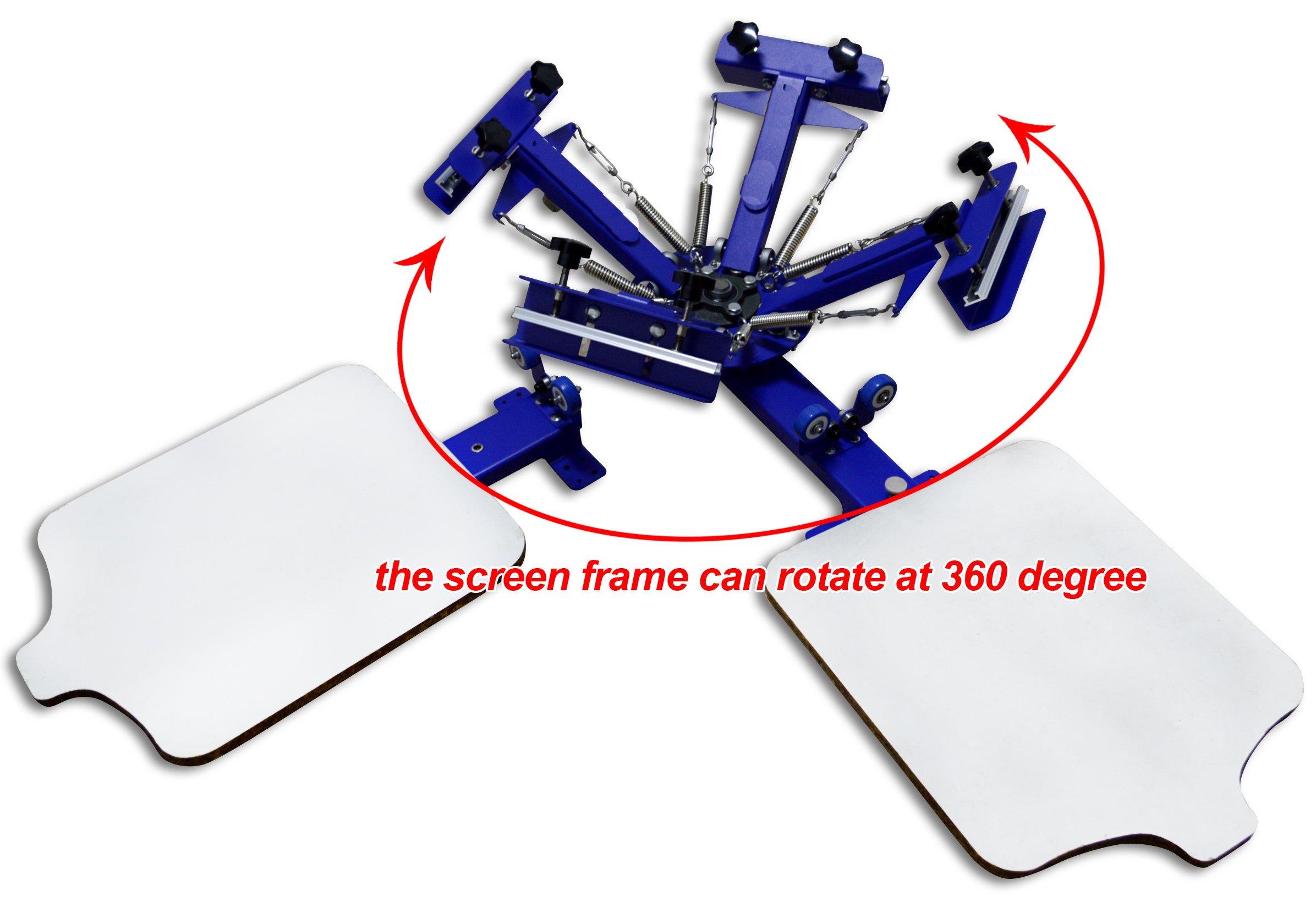 Screen Printing Machine Silk Screen Printing Machine Screen Printing Press 4 Color 2 Station T-shirt Screen Printing Equipment DIY Printer by Screen Printing Machine Series