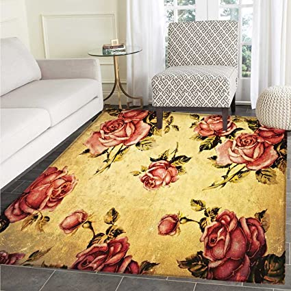 Amazon.com: Rose Mats for Bedroom Old Fashioned Victorian ...
