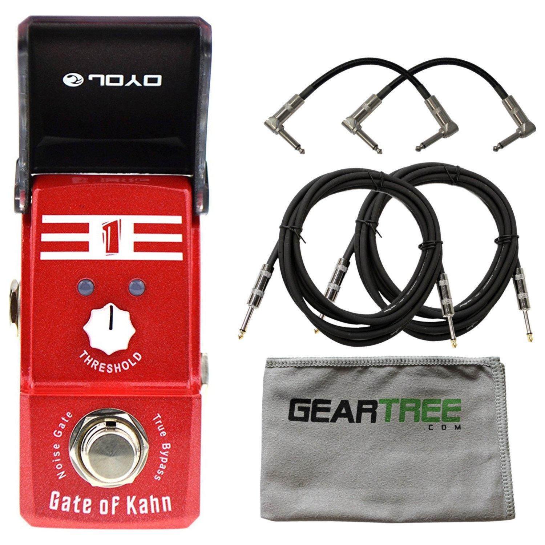 Joyo JF 324 Gate of Kahn Noise Gate Ironman Mini Pedal w/Cloth and 4 Cables by Joyo Audio
