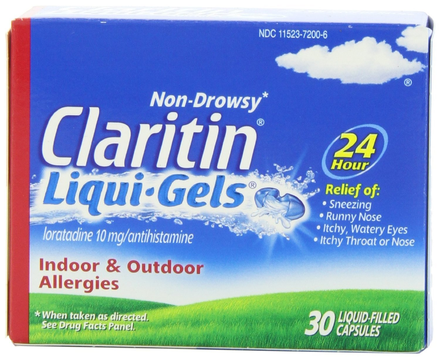 Claritin 24 Hour Allergy Liqui-Gels 30 CT (PACK OF 3) by