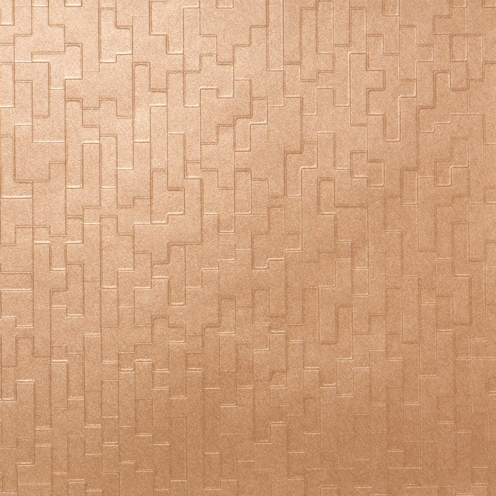 Rhythm Bronze Metallic Wallpaper for Walls - Double Roll - Romosa Wallcoverings LL7571 by Romosa Wallcoverings