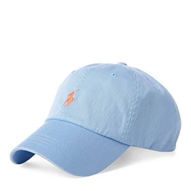 9fd71216c41184 Polo Ralph Lauren Cotton Chino Baseball Cap (Blue) at Amazon Men's Clothing  store: