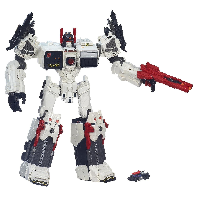 Transformers Generaciones Titan Clase Metroplex con Autobot Scamper Figura