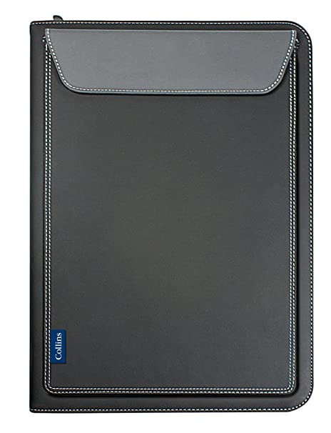 Collins 7021 - Carpeta de anillas con bolsillo color negro