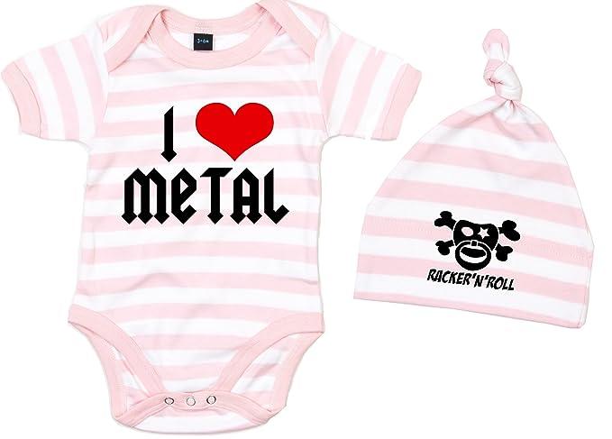 Racker-n-Roll I LOVE METAL White Baby-T-Shirt wei/ß