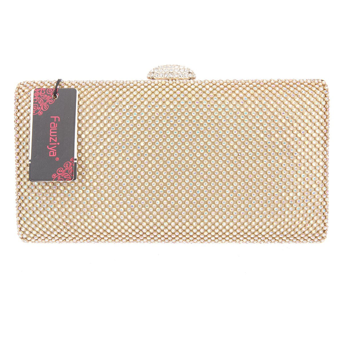 Fawziya Velvet Clutch Rhinestone Envelope Evening Purse