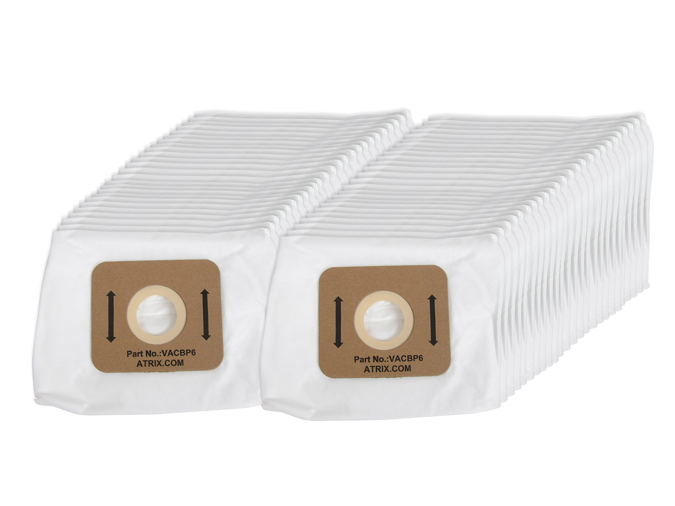 Atrix VACBP6-50 Filter, 50-Pack, White