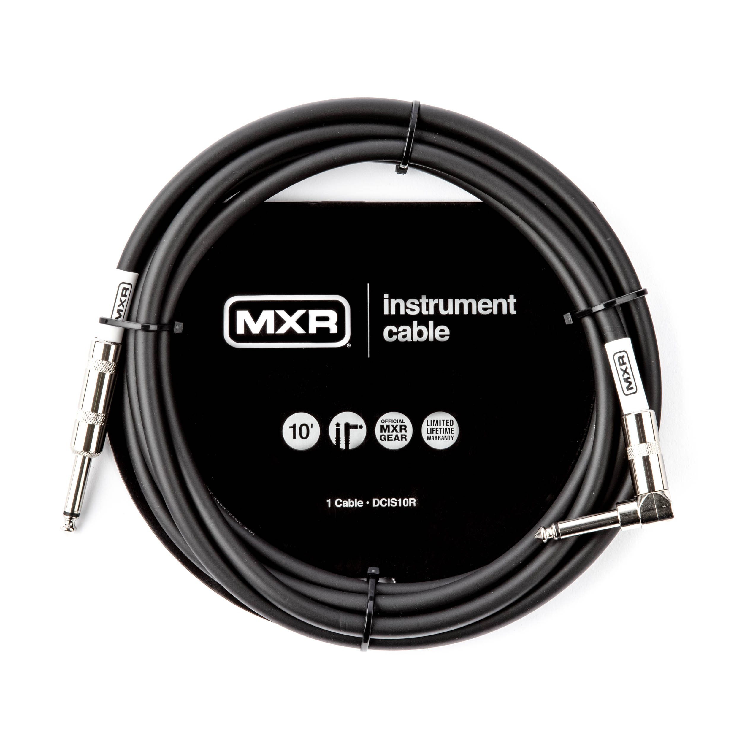 MXR Stage or Studio Cable, Black, 10 Feet (DCIS10R)
