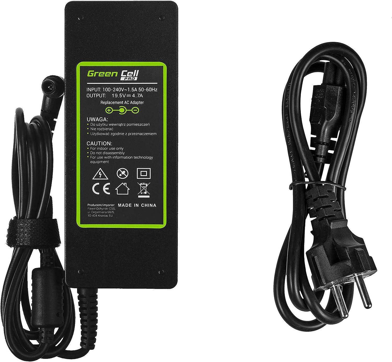 GC Pro Cargador para Port/átil Sony Vaio PCG-61211M PCG-71211M PCG-71811M PCG-71911M Fit 15 15E SVF152A29M Ordenador Adaptador de Corriente 19.5V 4.7A 90W