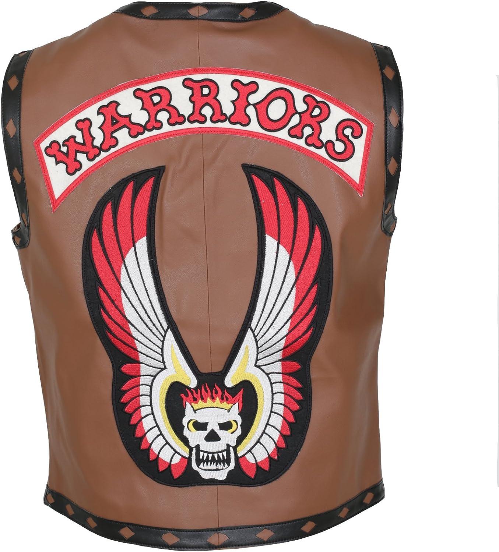 Genuine Leather Warriors Brown Vintage Original Style Vest For Men