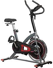 ZYNERGY Spinbike Bicicleta Fija, 7 kg, Negro
