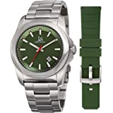 Joshua & Sons Men's Quartz Stainless Steel Casual Watch, Color:Silver-Toned (Model: JX108GN-BX)