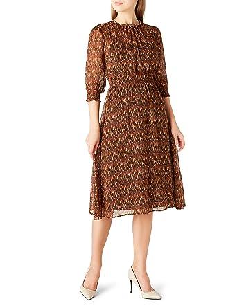 55680f2474cb3 Koton Kadın Elbise, Kahverengi Desenli, 34