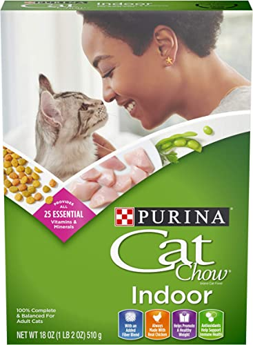 Purina Cat Chow Hairball, Healthy Weight, Indoor Dry Cat Food, Indoor – 12 18 oz. Boxes