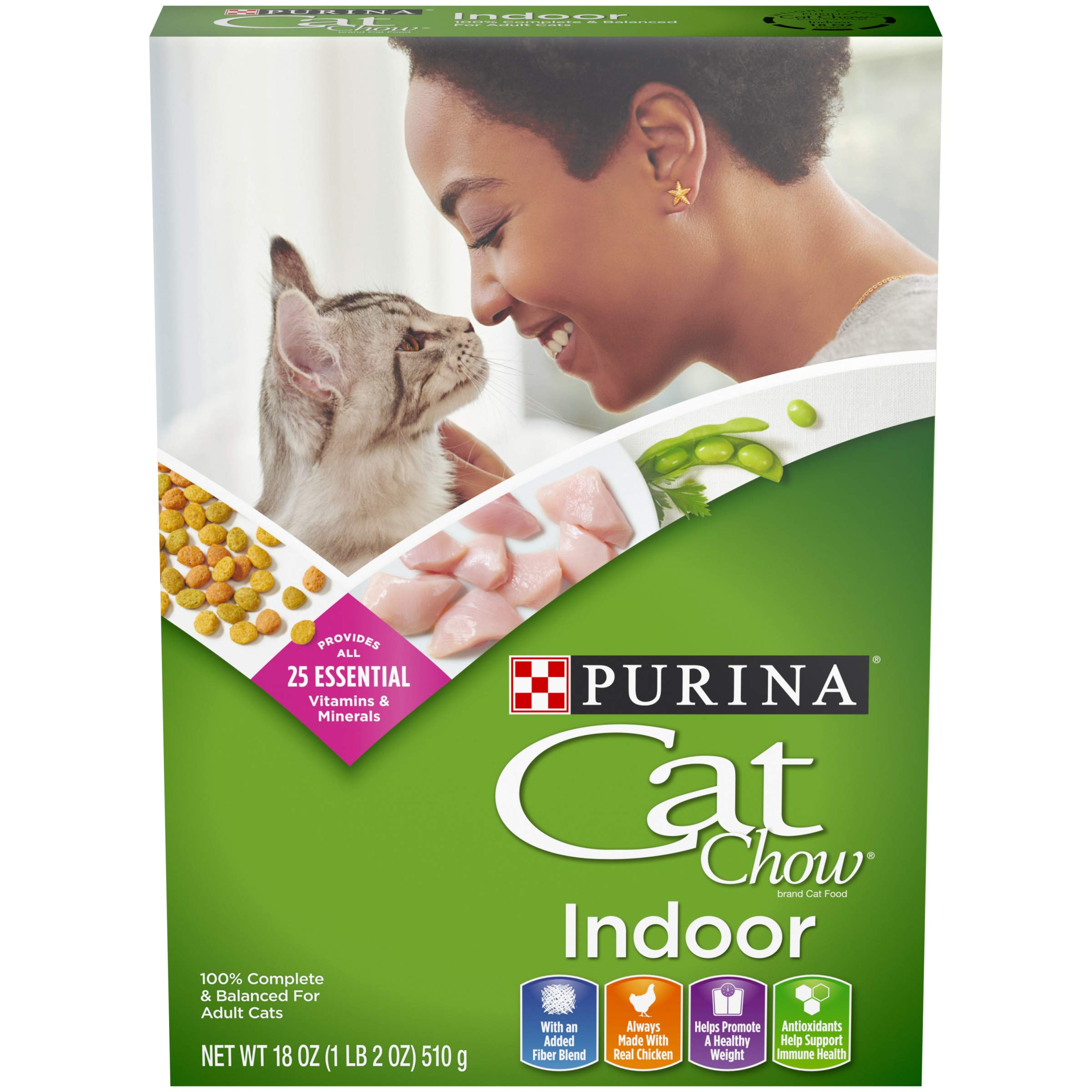 Purina Cat Chow Hairball, Healthy Weight, Indoor Dry Cat Food, Indoor - (12) 18 oz. Boxes by Purina Cat Chow