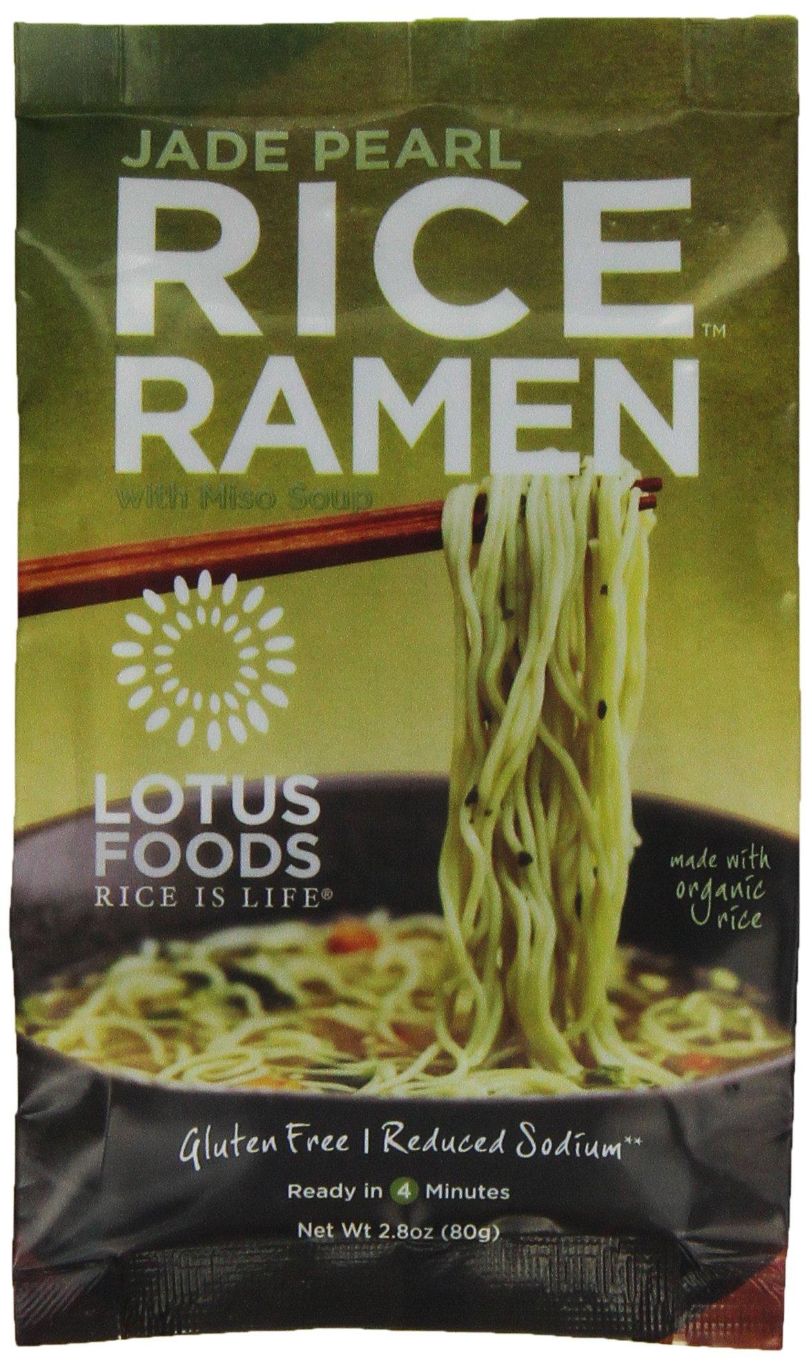 Lotus Foods Gourmet Jade Pearl Rice Ramen and Miso Soup, Lower Sodium, 10 Count by Lotus Foods