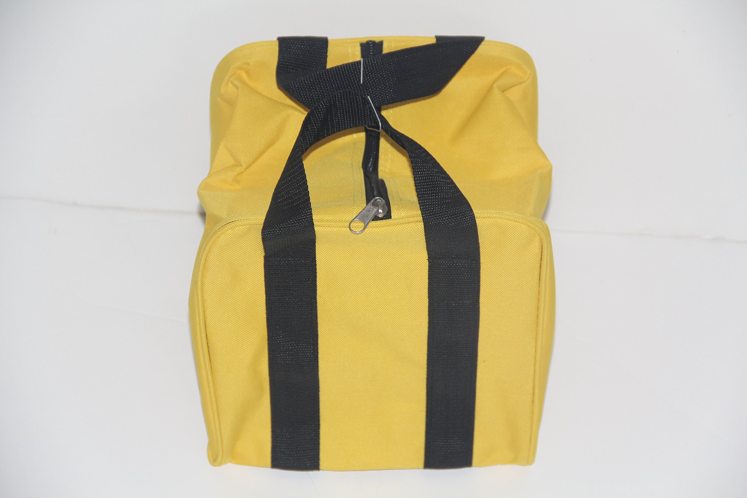 Premium Quality - Extra Heavy Duty Nylon Bocce Bag - Yellow with Black Handles