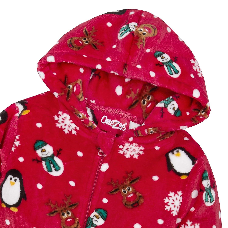 Childrens Unisex Christmas Design Onesie