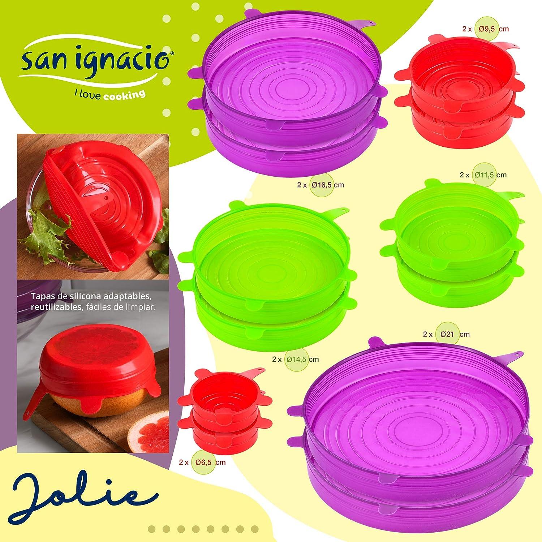 colecci/ón Jolie San Ignacio Set 24pc Tapas Silicona 24 Piezas Multicolor