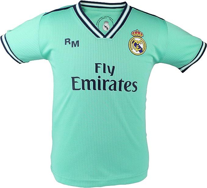 Camiseta Adulto Tercera Equipación - Real Madrid - Réplica Autorizada: Amazon.es: Deportes y aire libre