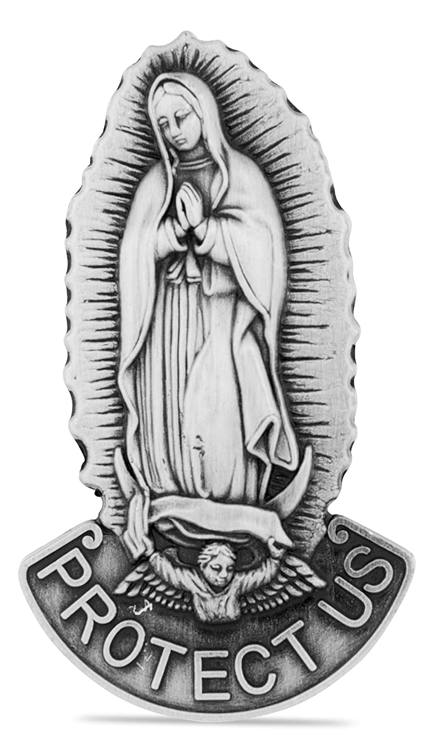 Catholic Visor Clip for Protection While Driving (Saint Christopher / Our Lady of the Highway) Venerare