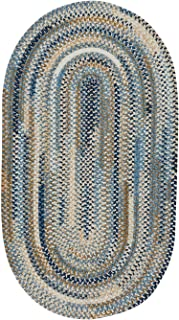 "product image for Capel Habitat Blue 0' 27"" x 9' 0"" Runner Runner Braided Rug"