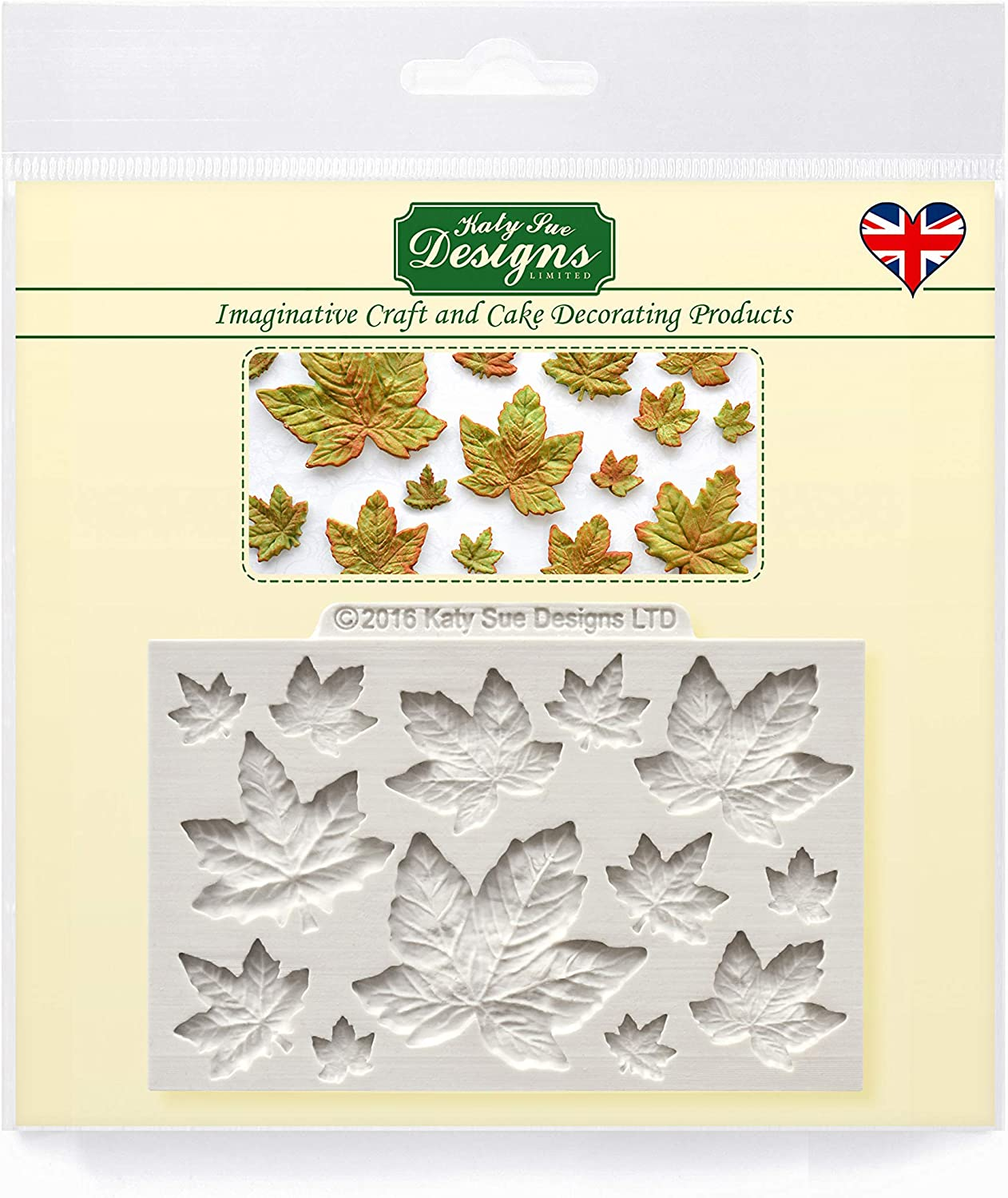 Maple Leaves Silicone Mold for Cake Decorating, Cupcakes, Sugarcraft, Candies and Clay, Food Safe