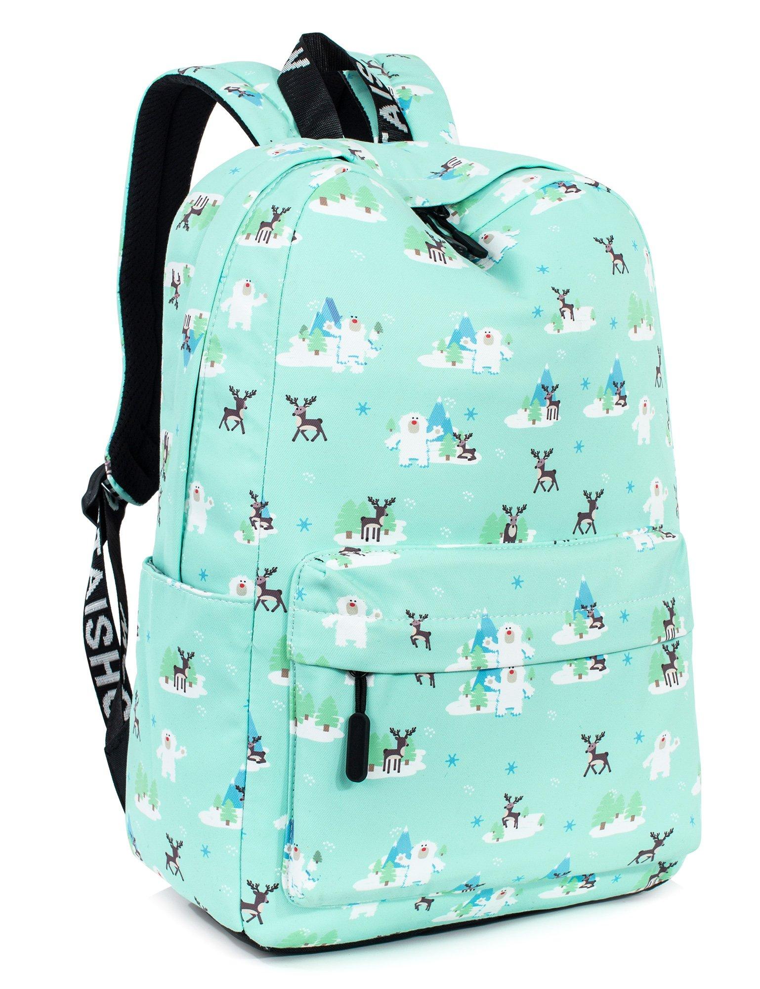 7401def6851 Galleon - Cute Deer Laptop Backpack For Women, Travel Bag School Backpack  For Girls Daypack By Leaper (Green Deer)