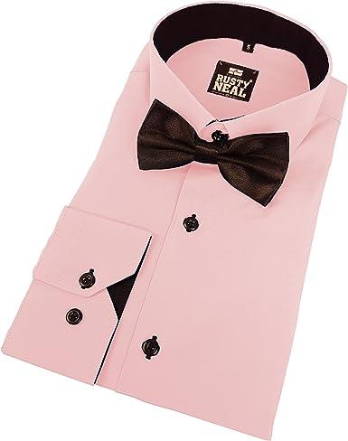 Rusty Neal 44 de Mosca Business Camisa Camisas con Pajarita ...