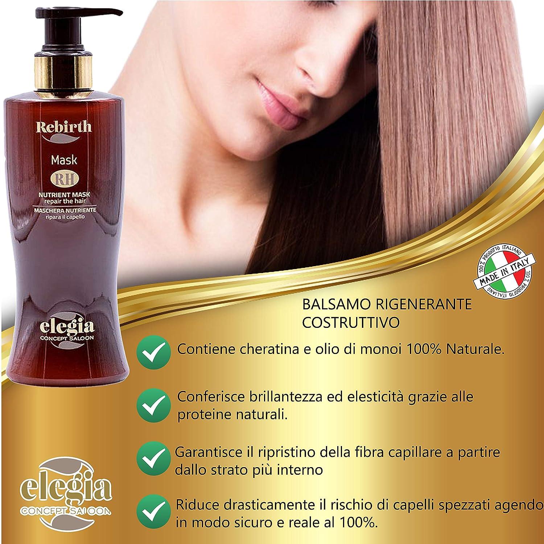 Elegia - Kit de tratamiento profesional para el cabello seco ...