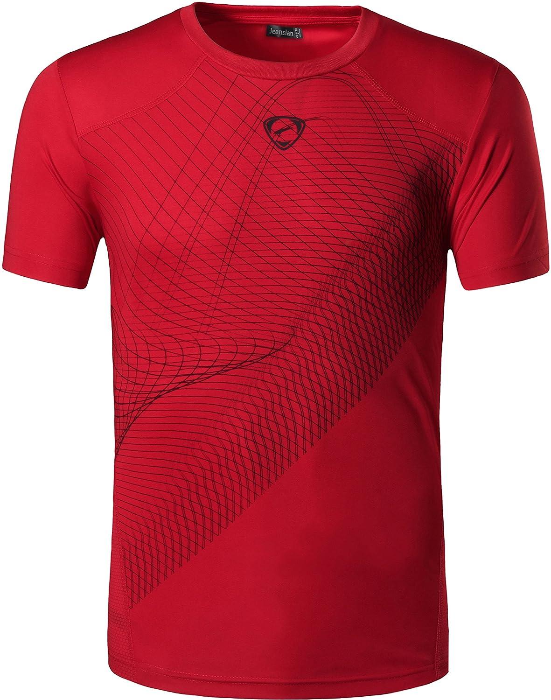 Jeansian Hombres Camiseta Deporte Delgado Tapas Men Quick-dry T-shirt Sport Slim Tops LSL069