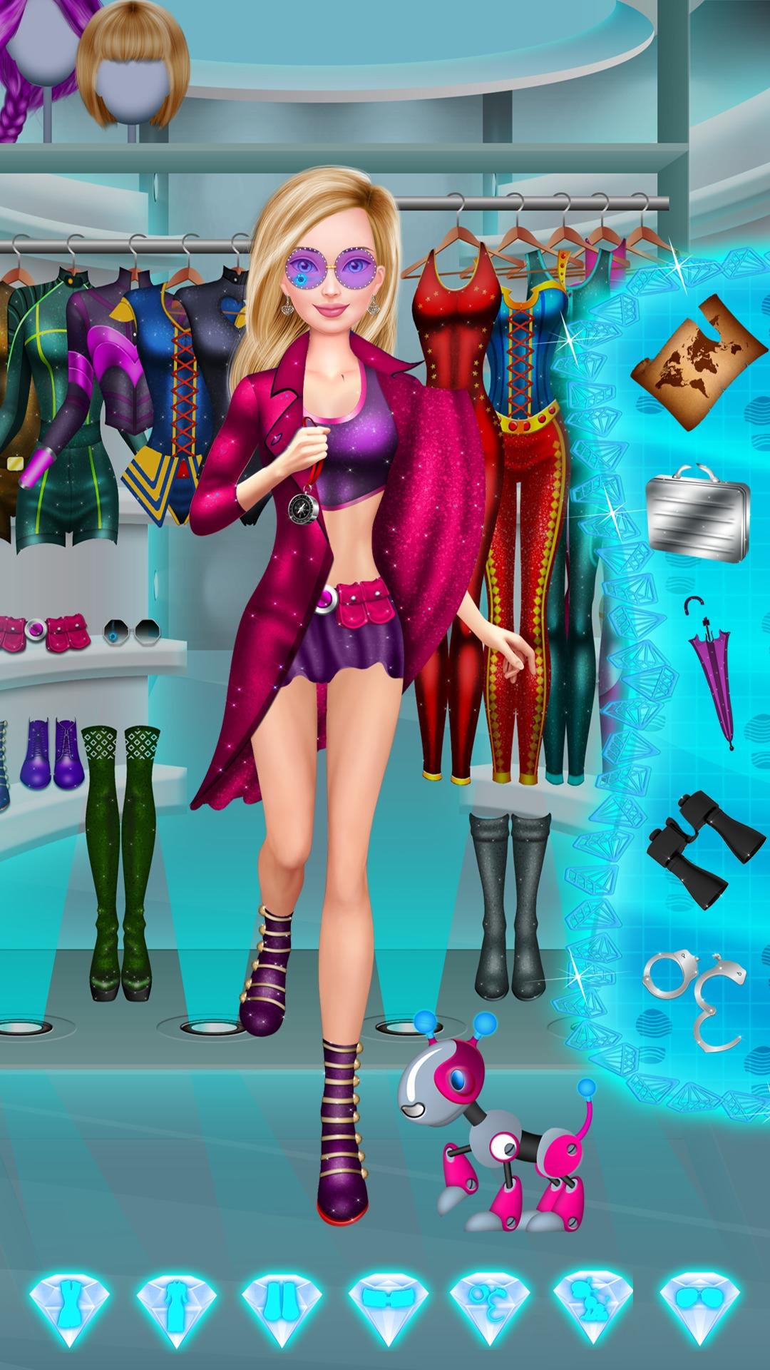 Amazon Com Spy Girl Salon Makeup And Dress Up Full Version