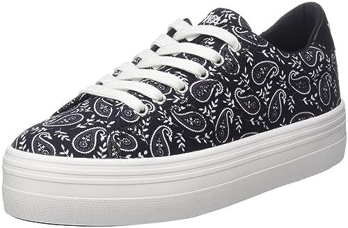 No Name Plato Sneaker Bandana, Zapatillas para Mujer, Negro (Black 15),
