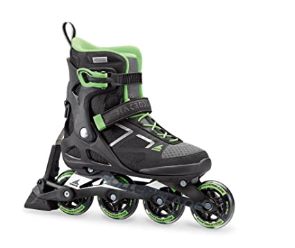 d1d50782ed3 Rollerblade Women's Macrob 80 ABT Fitness Inline Skate, Black/Light Green,  ...