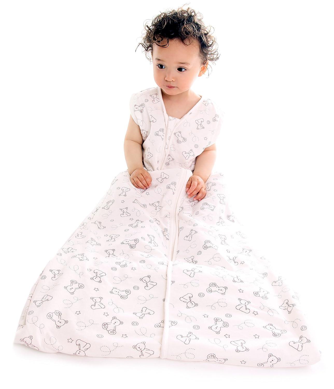 Schlummersack - Saco de dormir para bebé para primavera / verano (1 tog, disponible en varios tamaños: desde nacimiento hasta 3 años), diseño de ositos: ...