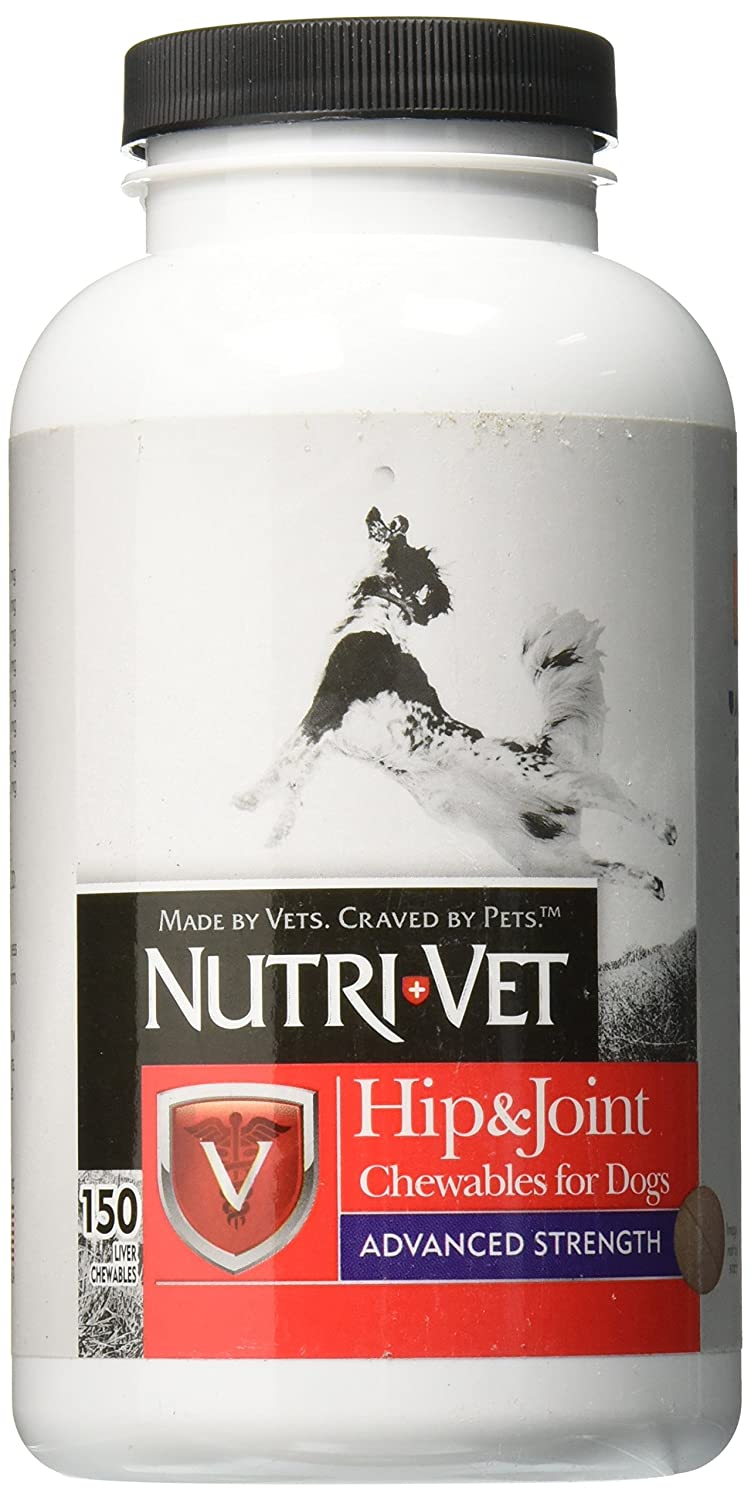 150 Count Nutri-Vet Hip & Joint Chewable for Dogs, Advanced Strength 250 Count