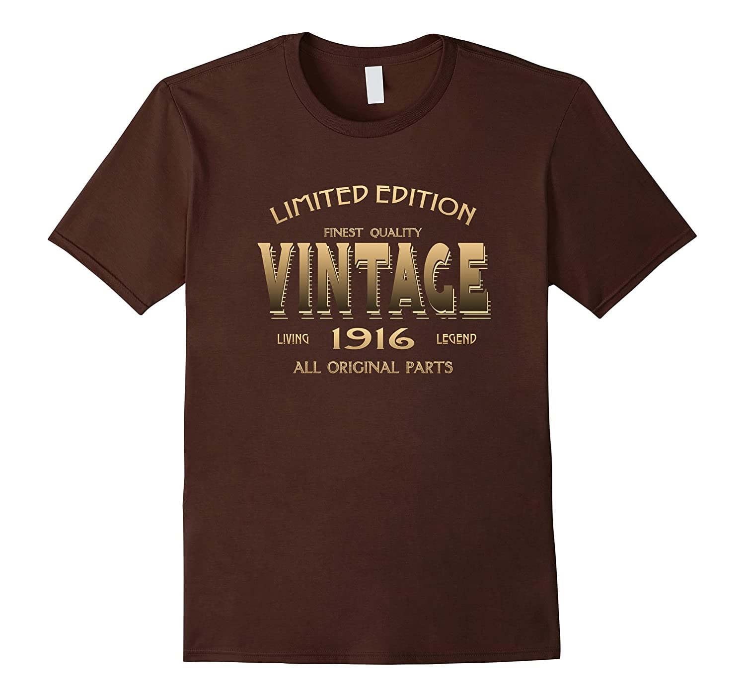 100th BIRTHDAY Gift 1923 VINTAGE T-shirt 100 Year Old Bday-BN