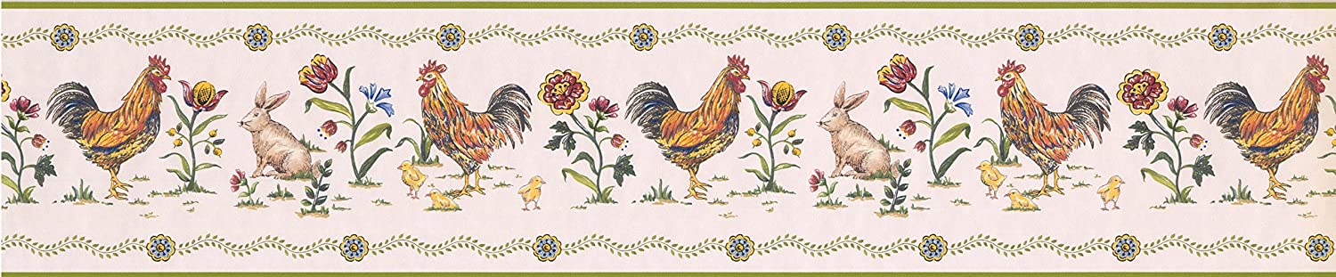 Roosters Wallpaper Border 5808345