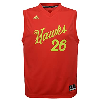 size 40 f1729 0e108 NBA Youth Boys 8-20 Hawks Kyle Korver X-Mas Day Replica ...